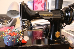 For a week after Christmas, I was getting busy with this beaut! My nana's sewing machine that my mom gave to me.